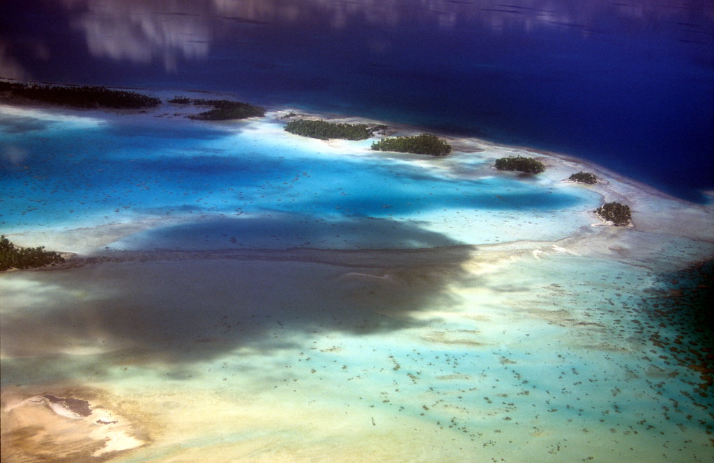 Rangiroa Atoll in the Tuamotu Archipelago of French Polynesia.