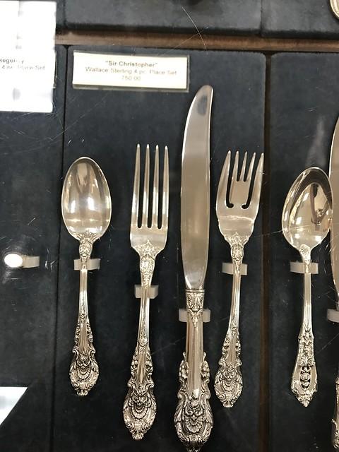Wallace silver cutlery setting