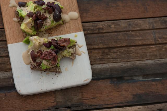Avo on Toast with Smashed Olives & Tahini-3
