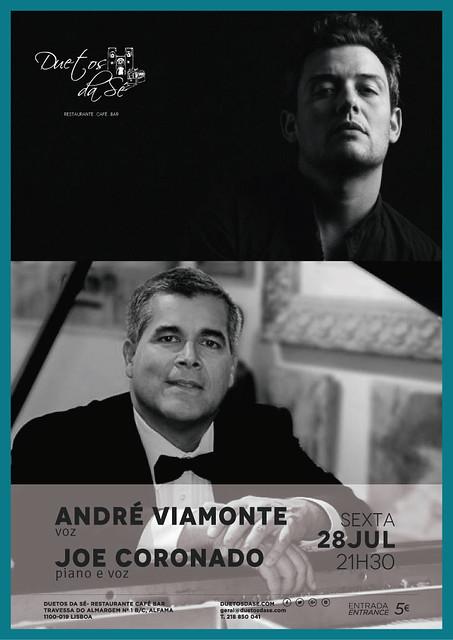 CONCERTO - Duetos da Sé - Alfama Lisboa - SEXTA-FEIRA 28 DE JULHO 2017 - 21h30 - André Viamonte - Joe Coronado