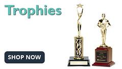 Personalized trophies figure, column, backdrop