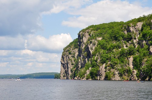 View of the cliffs from the ferry, Bon Echo Provincial Park