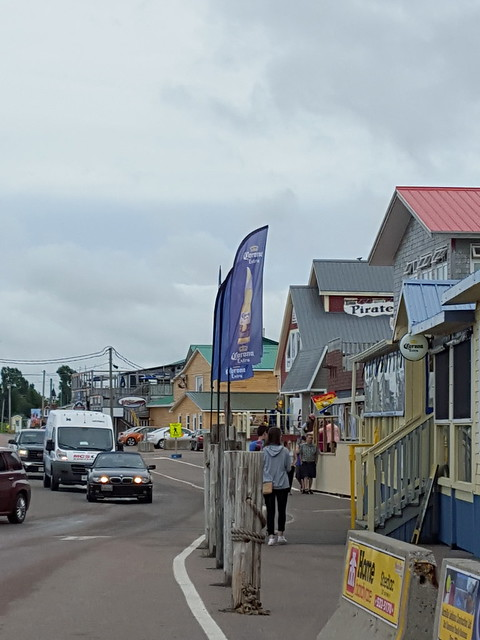 shopping and restaurants along the Pointe-du-Chêne Wharf. From Visiting the Lobster Capital of the World