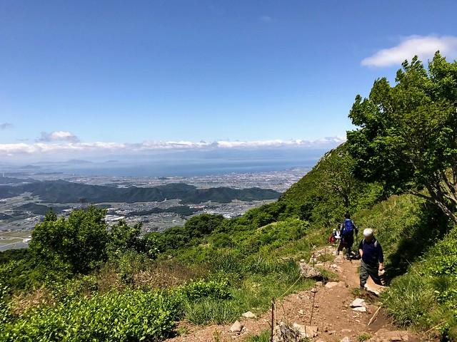伊吹山 表登山道 5合目 琵琶湖