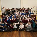 Participants of Schools Visual Arts Day dabbing! | © Eoin Carey