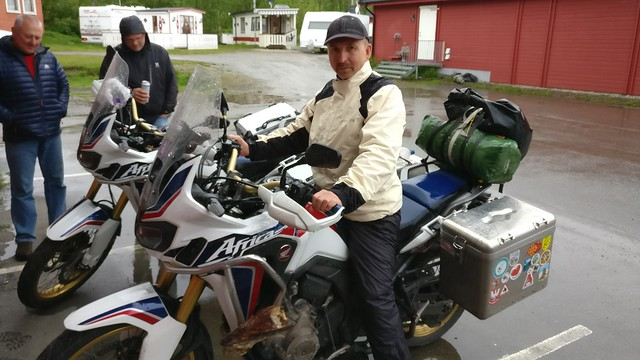 Alexandr on the africa twin