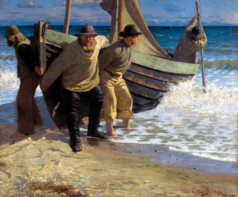 The Boat is Set in the Sea by Oscar Björck, 1885