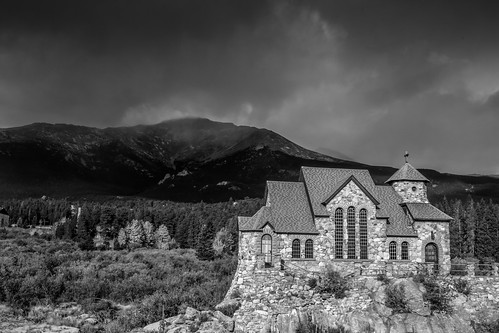 blackandwhite churchontherock estespark colorado allenspark unitedstates us