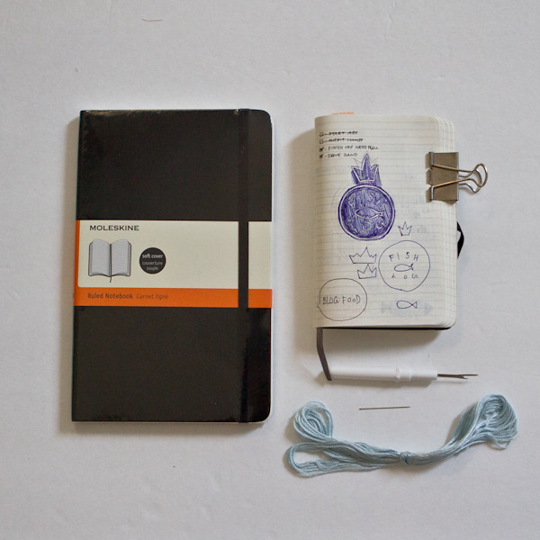 Moleskine Fish Log: material