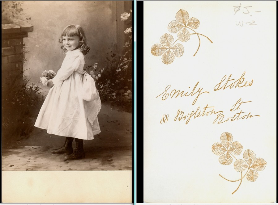 Little girl by female photographer cabinet photo