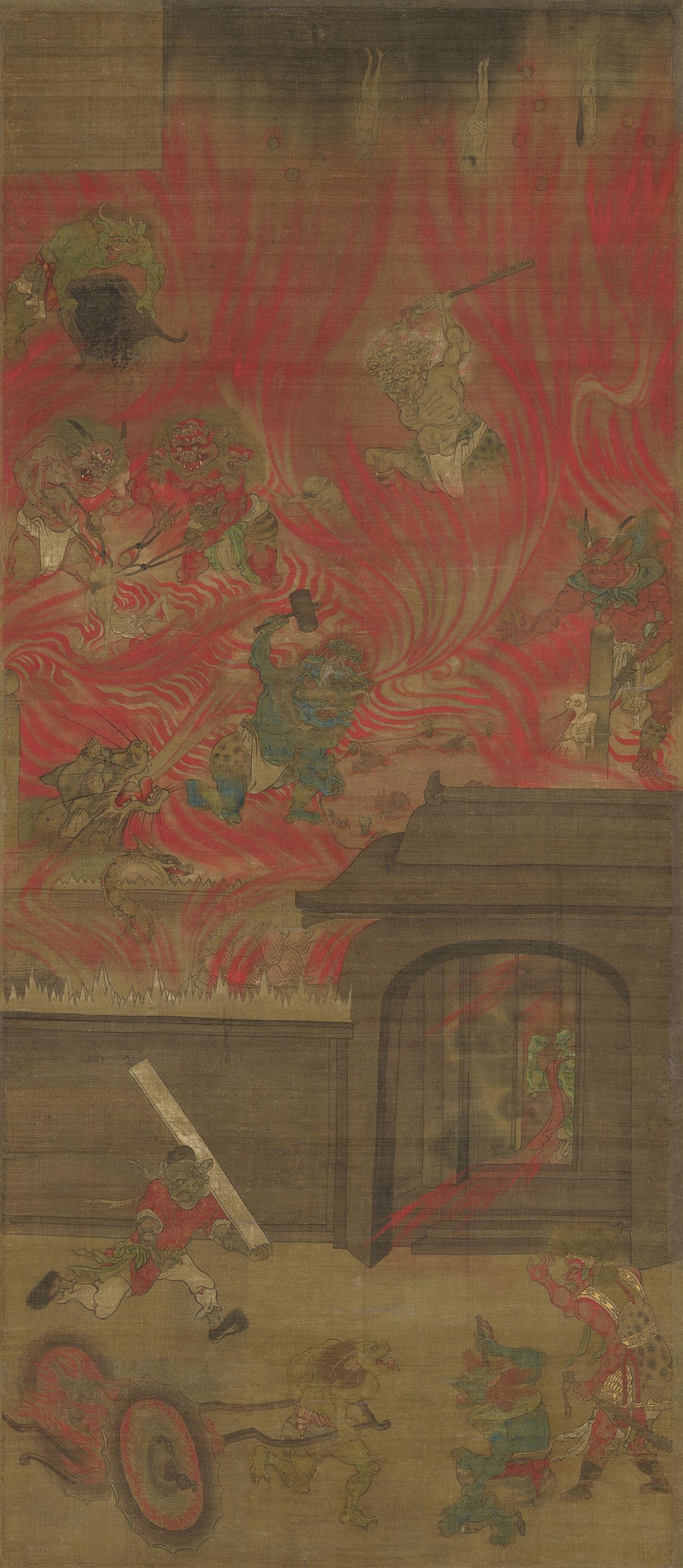 国宝《六道絵のうち阿鼻地獄》(鎌倉時代、聖衆来迎寺)