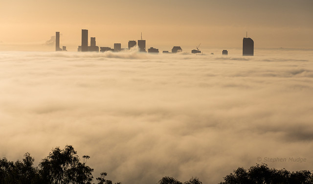 A sea of fog in Brisbane