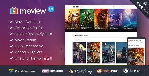 Moview v2.0 – Responsive Film/Video DB & Review Theme