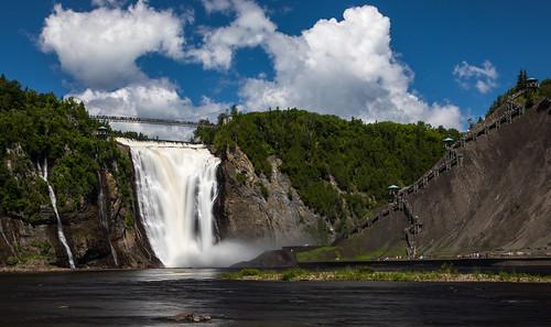 villedequébec québec canada ca waterfalls sky blue color water bridge nature tourism attraction aru arun sundar