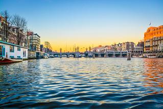 Amsterdam's sunset.