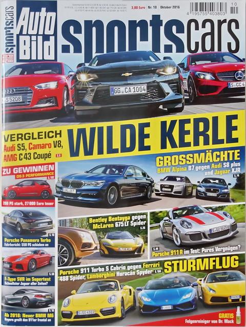 Auto Bild Sportscars 10/2016