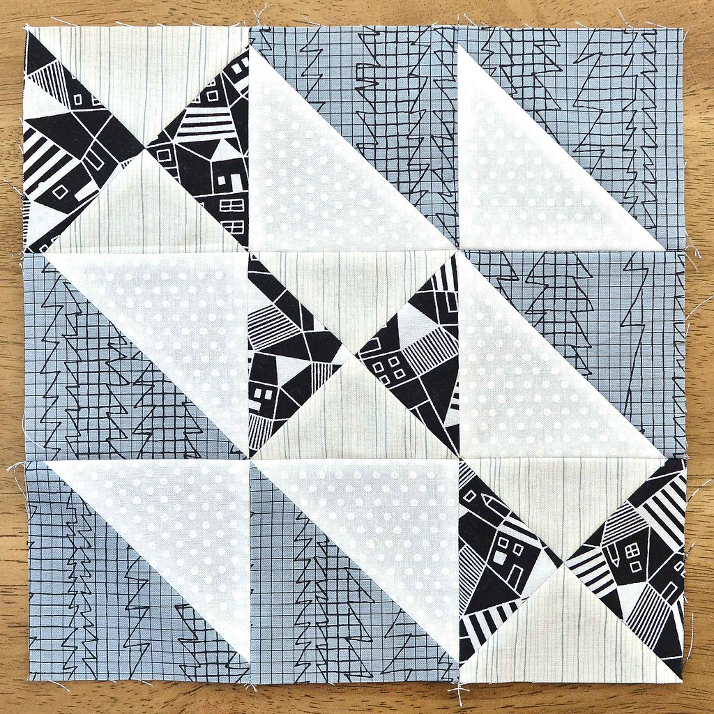 The Fussy Cut Sampler Block # 33