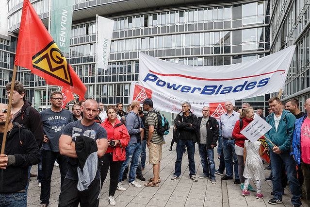 Senvion: Protestkundgebung in Hamburg