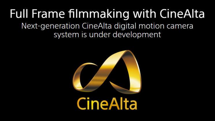 CineAlta : Sony dévoilera bientôt un nouveau système de caméra 4K RAW avec un capteur plein format
