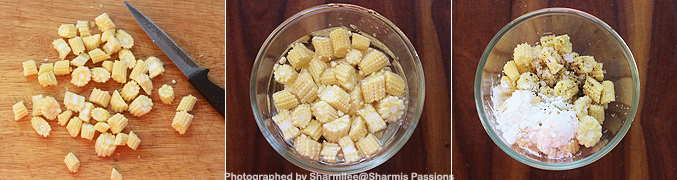 How to make Baby corn salt and pepper recipe - Step1