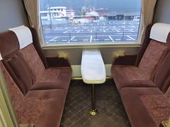 東武特急スペーシアのコンパートメント席(個室料金が必要)