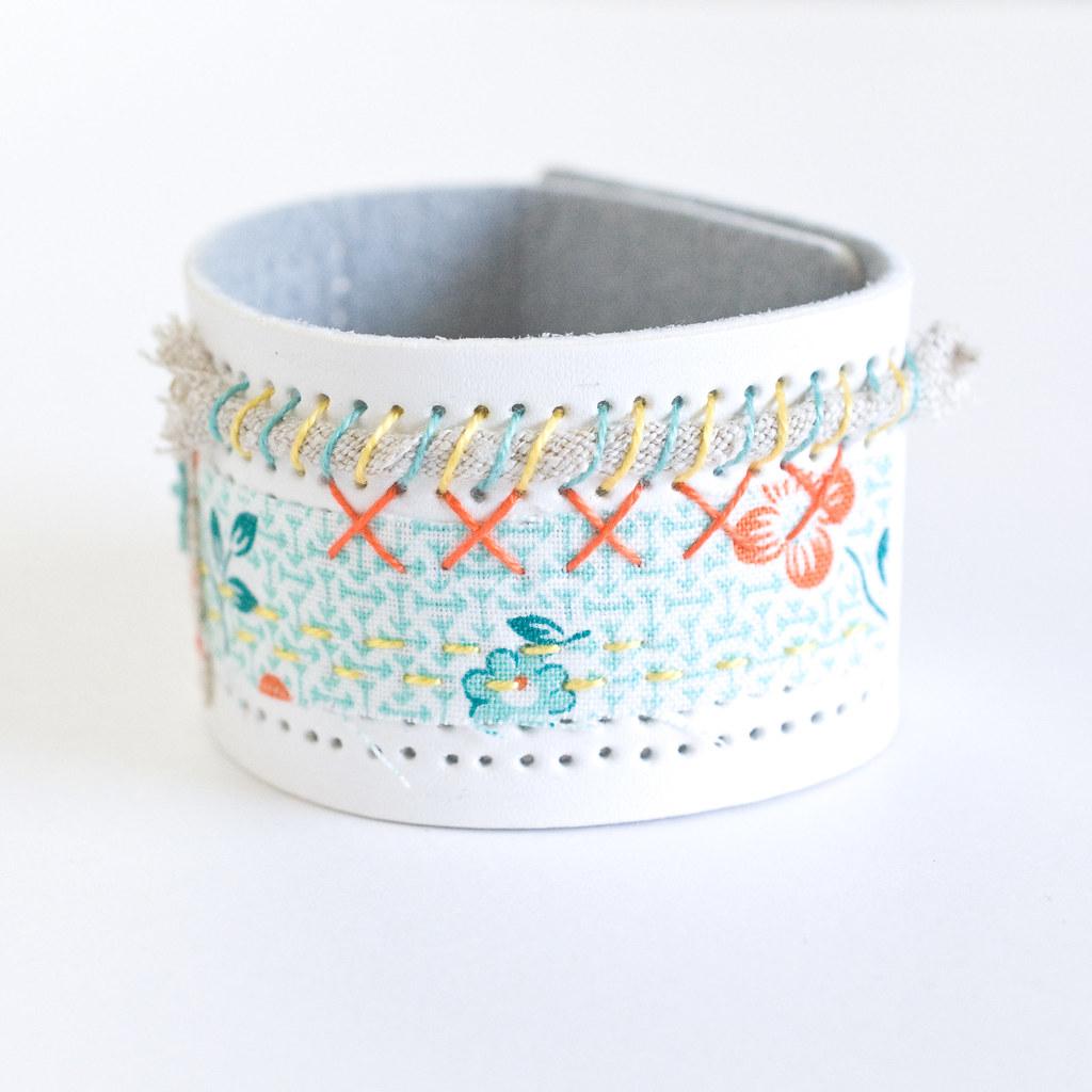 Mixed-Material DMC Stitchable Cuff Bracelet