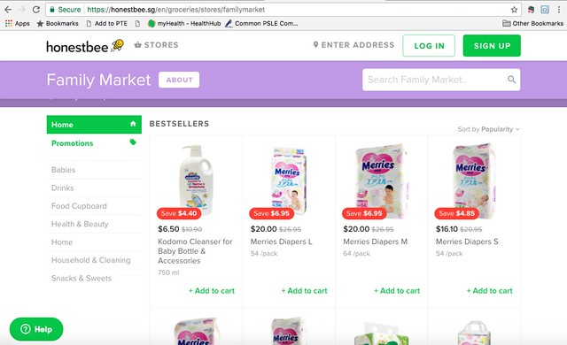 Family market -homepage