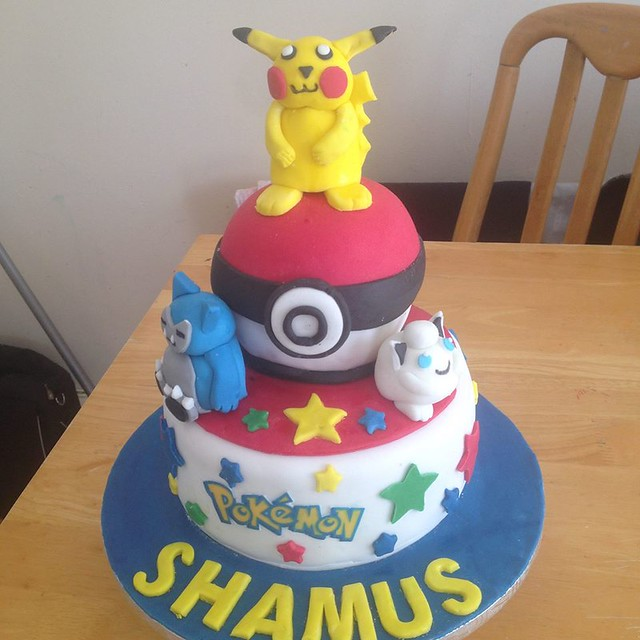 Pokemon Themed Cake from Piece of Cake by Rose
