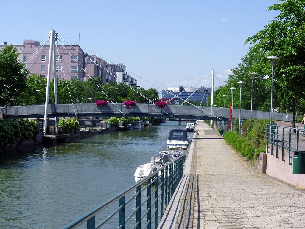Along the canal at Ruoholahti, Helsinki