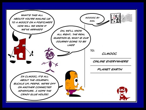 CLMOOC by Mail comic