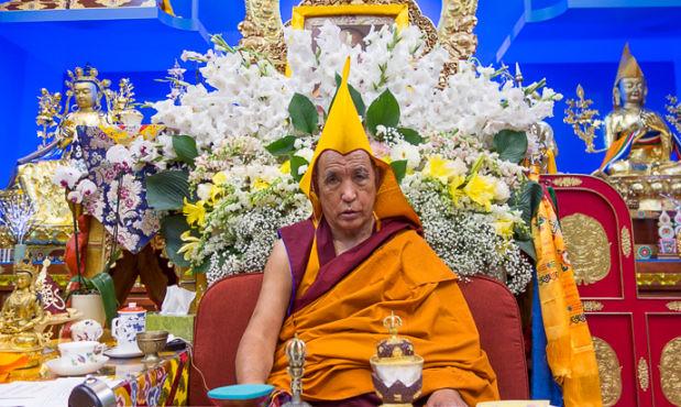Y.M. Ganden Tripa Ke-104 Kyabje Jetsun Lobsang Tenzin Palsangpo. Foto Tibet.net