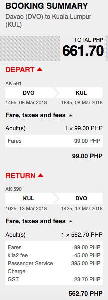 AirAsia New Route Davao to Kuala Lumpur Promo