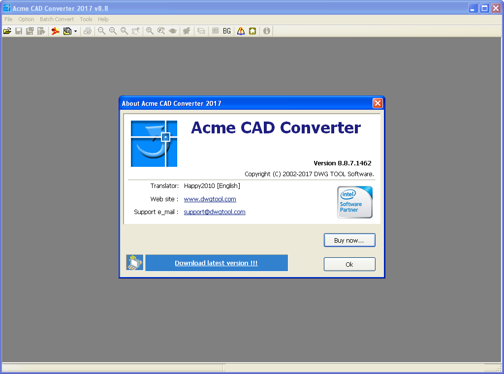 Working with Acme CAD Converter 2017 v8.8.7 full license