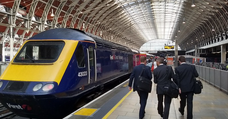 Intercity 125 train at Paddington Station, London