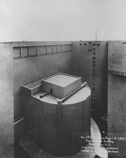 Photograph of the Exterior of the Rotunda from the Inner Court of the National Archives Building