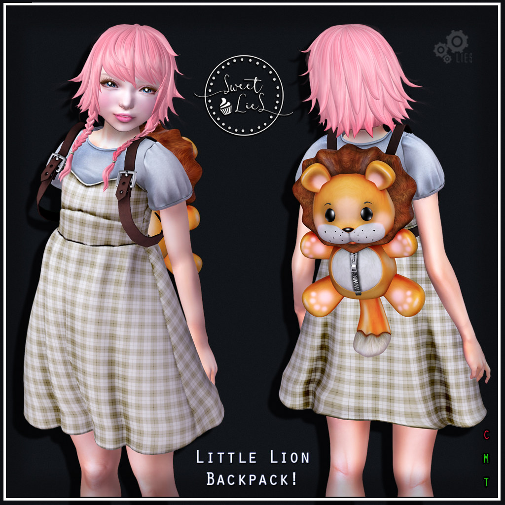 Little Lion Backpack - Sweet Lies Original SOI - SecondLifeHub.com
