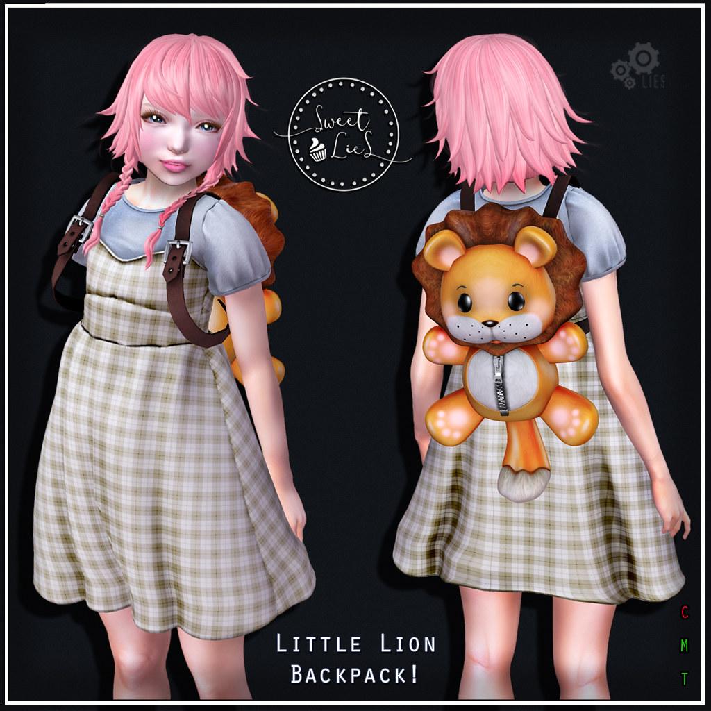 Little Lion Backpack - Sweet Lies Original SOI - SecondLifeHub.com