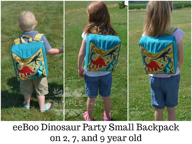 eeBoo Dinosaur Party Small Backpack comparison on The SIMPLE Moms