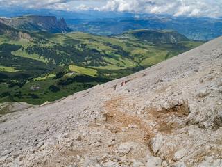 Plattkofel-Anstieg, Seiser Alm, Schlern
