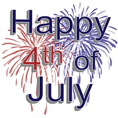 Happy 4th of July Independence day of the United States of America