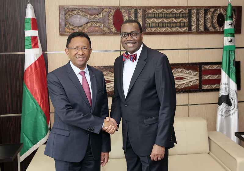 Visite de S.E.M. Hery RAJAONARIMAMPIANINA, Président de la République de Madagascar à la Banque, 22 Juillet 2017, Abidjan