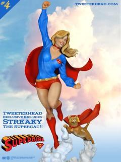 Tweeterhead Super Powers 系列第四彈【女超人】Supergirl Maquette 全身雕像作品