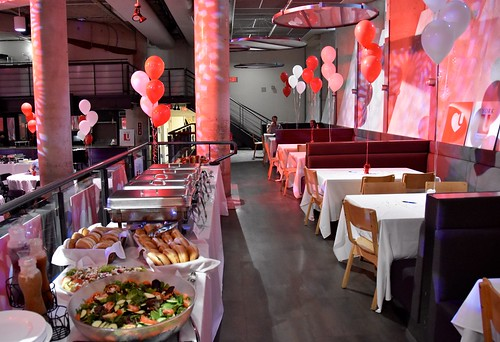 The buffet is ready for the Sizzlin' Success Celebration