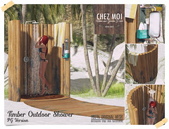 Timber Outdoor Shower CHEZ MOI