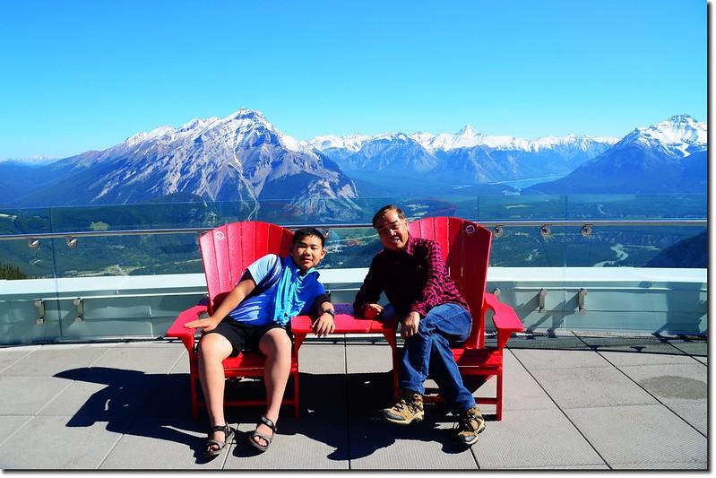 Red Chairs at upper terminal, Banff Gondola