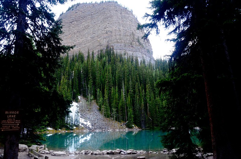 Big Beehive above Mirror Lake on the trail to Lake Agnes  (2)