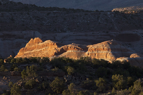 ridge rockformation sandstone sunset landscape