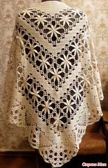 💋💕💕 What a more elegant and charming shawl model I completely loved this pattern in crochet that beautiful, look at that step by step