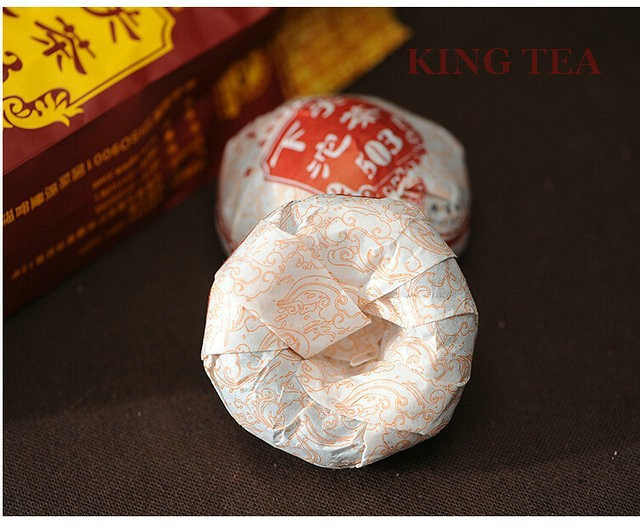 Free Shipping 2014 XiaGuan 503 Tuo Bowl 100g YunNan MengHai Organic Pu'er Raw Tea Weight Loss Slim Beauty Sheng Cha