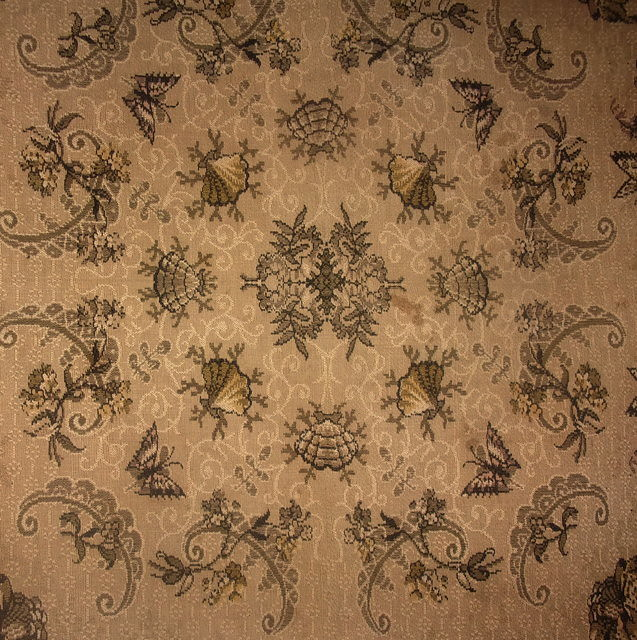 tapis de table ancien 1900 tapisserie iris. Black Bedroom Furniture Sets. Home Design Ideas